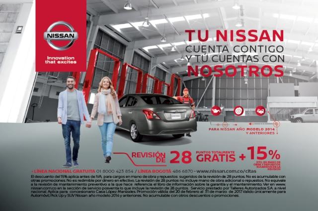 Campaña Nissan revisión gratuita 28 puntos